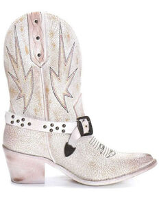 Corral Women's White Embroidery & Studs Western Boots - Pointed Toe, White, hi-res