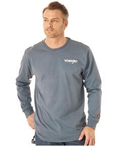 Wrangler FR Men's Wrench Flag Graphic Long Sleeve Work T-Shirt - Big , Indigo, hi-res