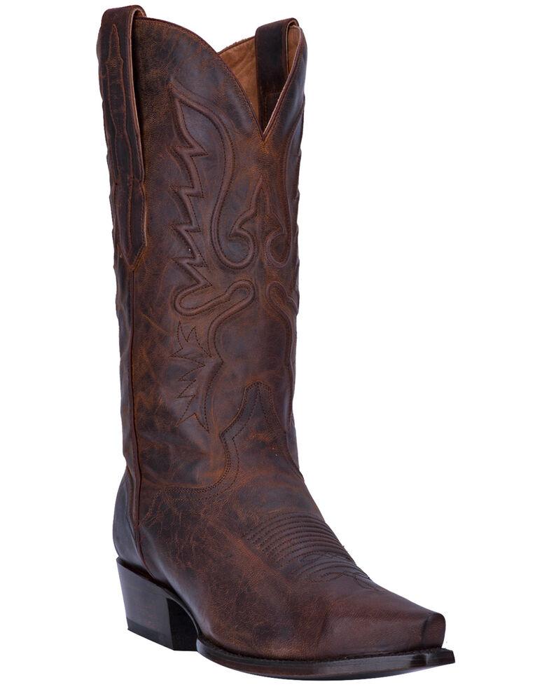 El Dorado Men's Bay Apache Leather Western Boots - Snip Toe, Dark Brown, hi-res
