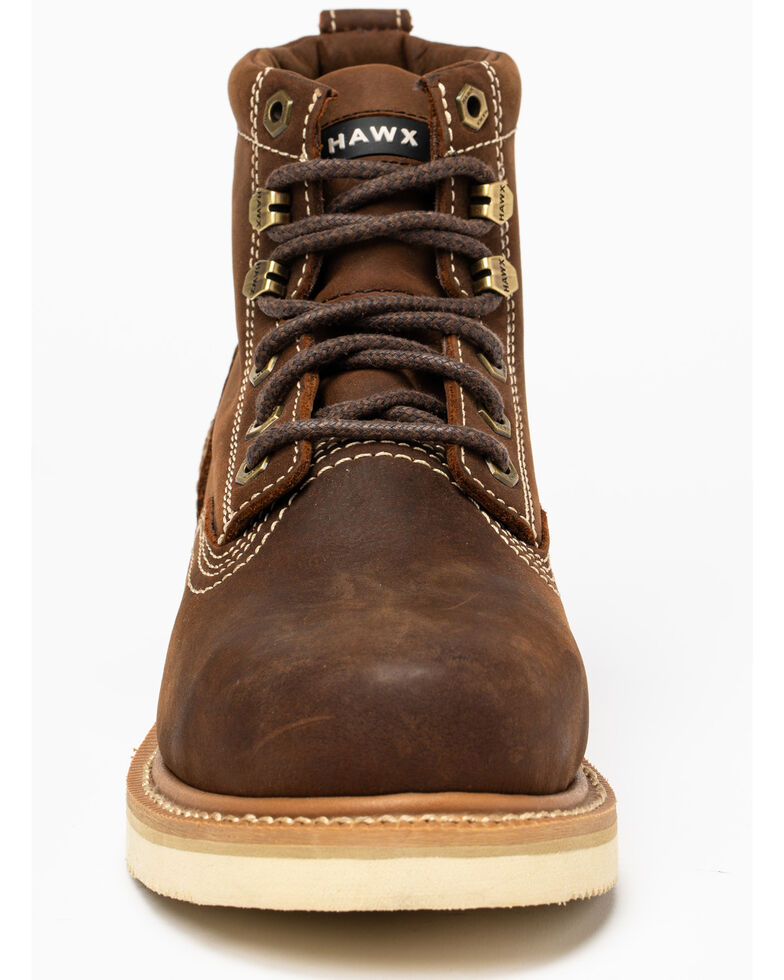 "Hawx Men's 6"" Lacer Work Boots - Nano Composite Toe, Brown, hi-res"