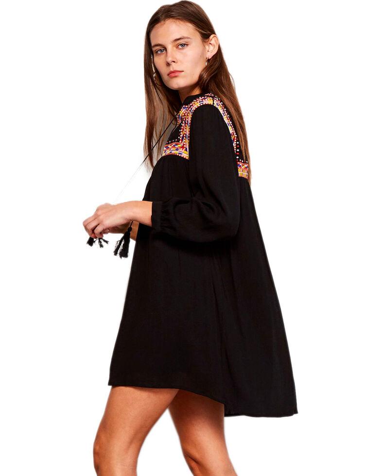 Jack Women's Black Saenz Embroidered Dress , Black, hi-res