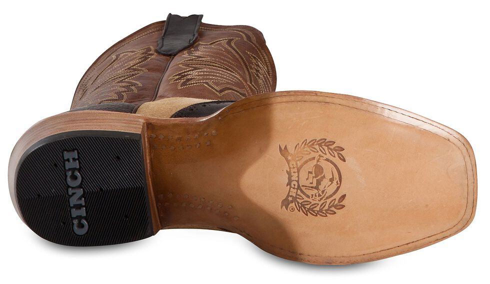 Cinch Classic Piel Yetti Cowboy Boots - Square Toe, Chocolate, hi-res