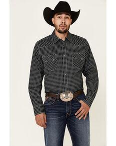 Cinch Men's Modern Fit Black Diamond Geo Print Long Sleeve Western Shirt , Black, hi-res