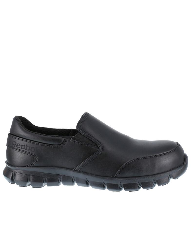 Reebok Men's Slip-On Sublite Work Shoes - Composite Toe, Black, hi-res