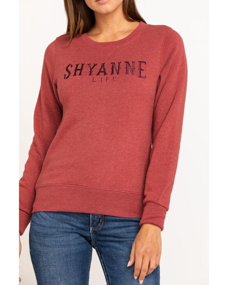 Shyanne Life Women's Logo Crew Pullover, Rust Copper, hi-res