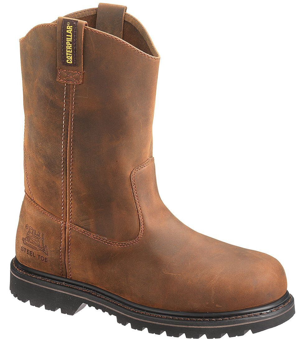 Caterpillar Edgework Pull-On Work Boots - Steel Toe, Mahogany, hi-res
