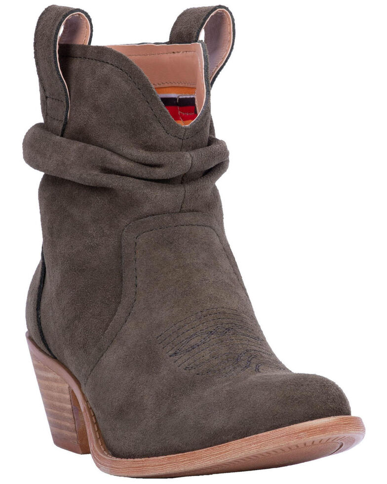 Dingo Women's Olive Jackpot Western Booties - Round Toe, Olive, hi-res