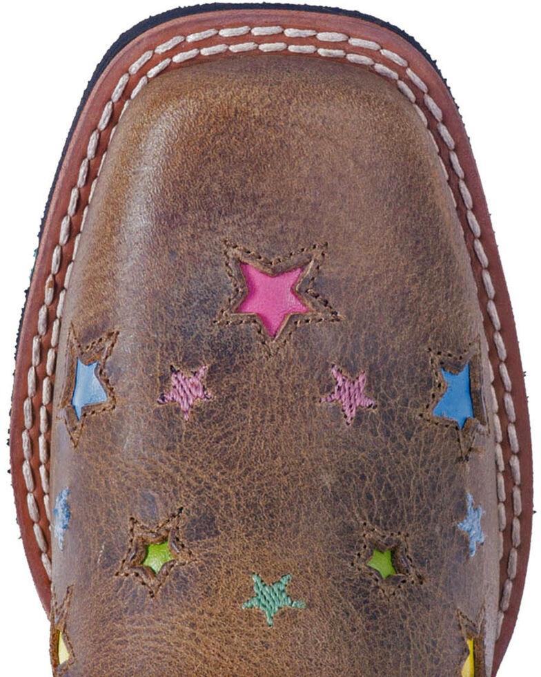Dan Post Girls' Brown Starlett Leather Boots - Square Toe , Brown, hi-res