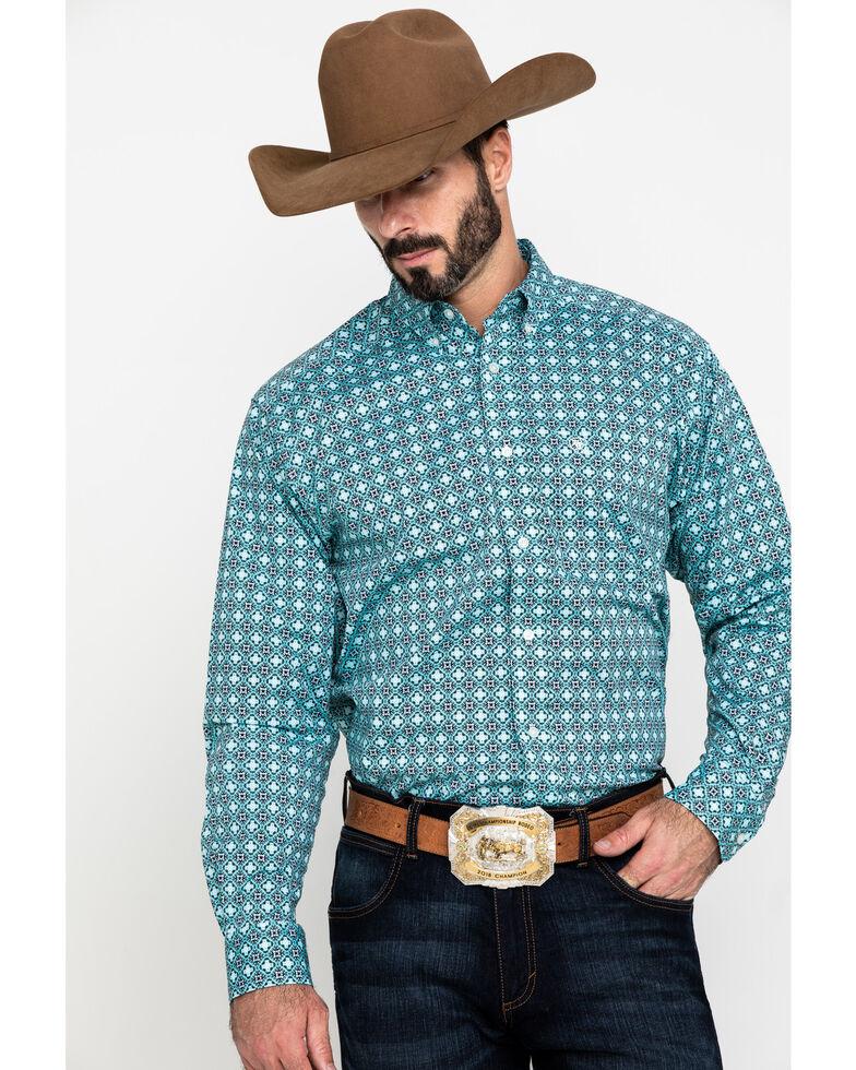 Ariat Men's Kerrington Stretch Geo Print Long Sleeve Western Shirt , Multi, hi-res