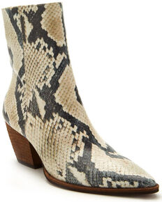 Matisse Women's Caty Natural Snake Fashion Booties - Pointed Toe, Natural, hi-res