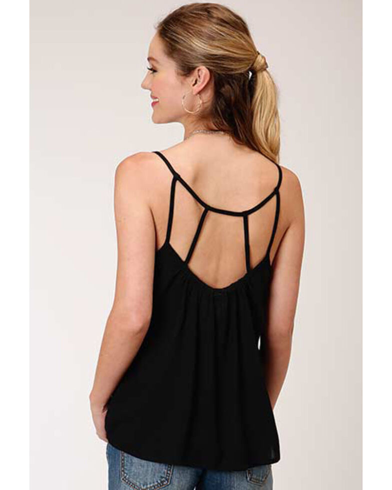 Roper Women's Black Embroidered Camisole Top, Black, hi-res