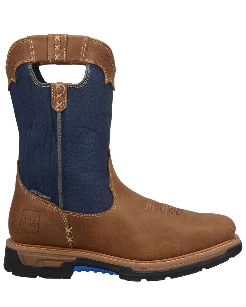 Dan Post Men's Blue Scoop EH Waterproof Western Work Boots - Composite Toe , Blue, hi-res