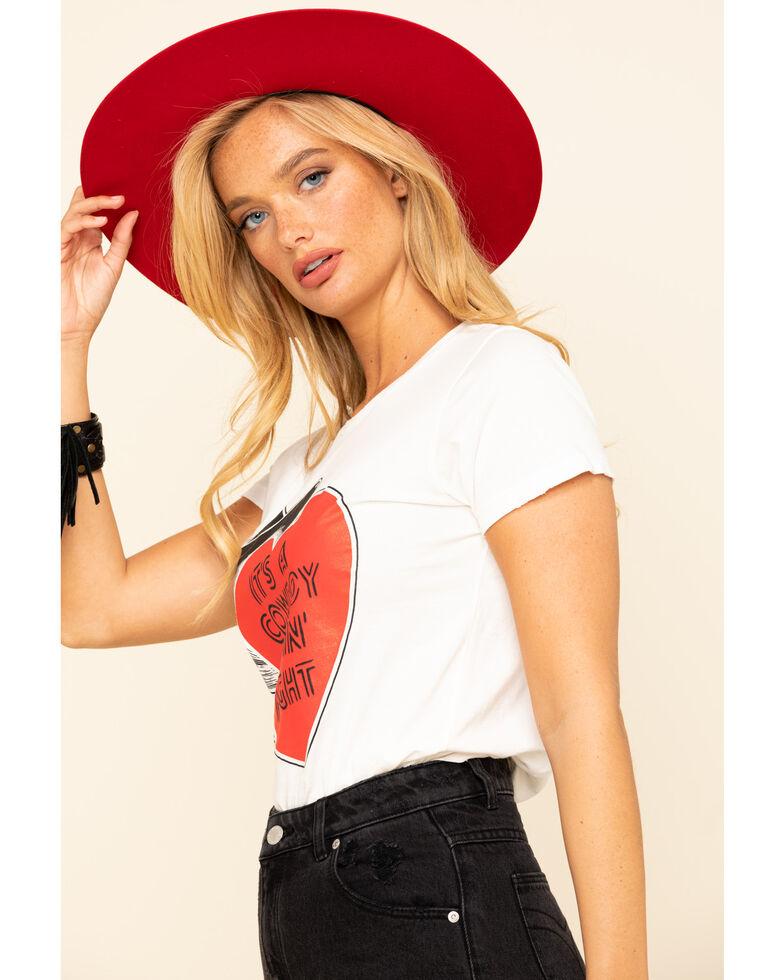 Bandit Brand Women's Cowboy Lovin' Graphic Short Sleeve Tee, White, hi-res