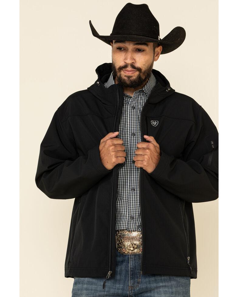 Ariat Men's Black Vernon Hooded Softshell Jacket , Black, hi-res