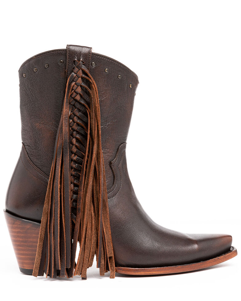 Idyllwind Women's Plaity Please Brown Fashion Booties - Snip Toe, Brown, hi-res