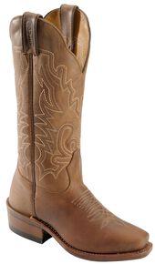 Boulet Women's Rancher Western Boots - Narrow Square Toe, Rustic Brn, hi-res
