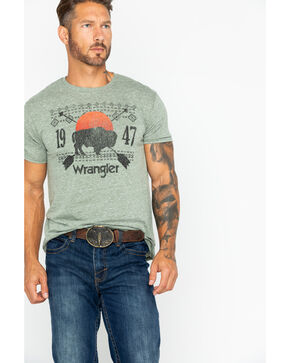 Wrangler Men's Buffalo Graphic T-Shirt , Green, hi-res