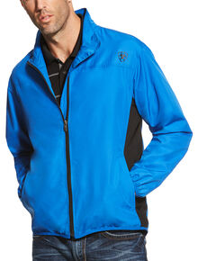 Ariat Men's Blue Ideal Windbreaker Jacket , Blue, hi-res