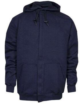 NSA Men's FR Heavyweight Pullover Hooded Sweatshirt, Navy, hi-res