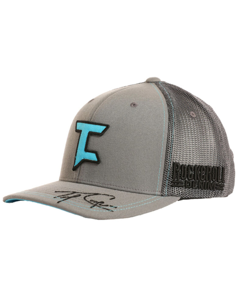 Tuf Cooper Men's Signature Trucker Hat, Charcoal, hi-res