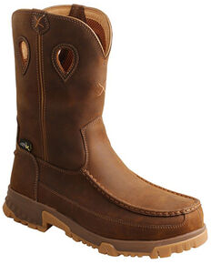 Twisted X Men's CellStretch Western Work Boots - Nano Composte Toe, Brown, hi-res