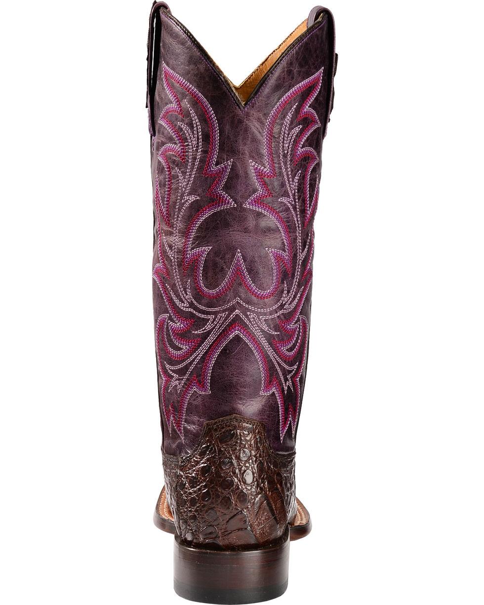 Lucchese Handmade 1883 Women's Georgia Hornback Caiman Cowgirl Boots, Barrel Brn, hi-res