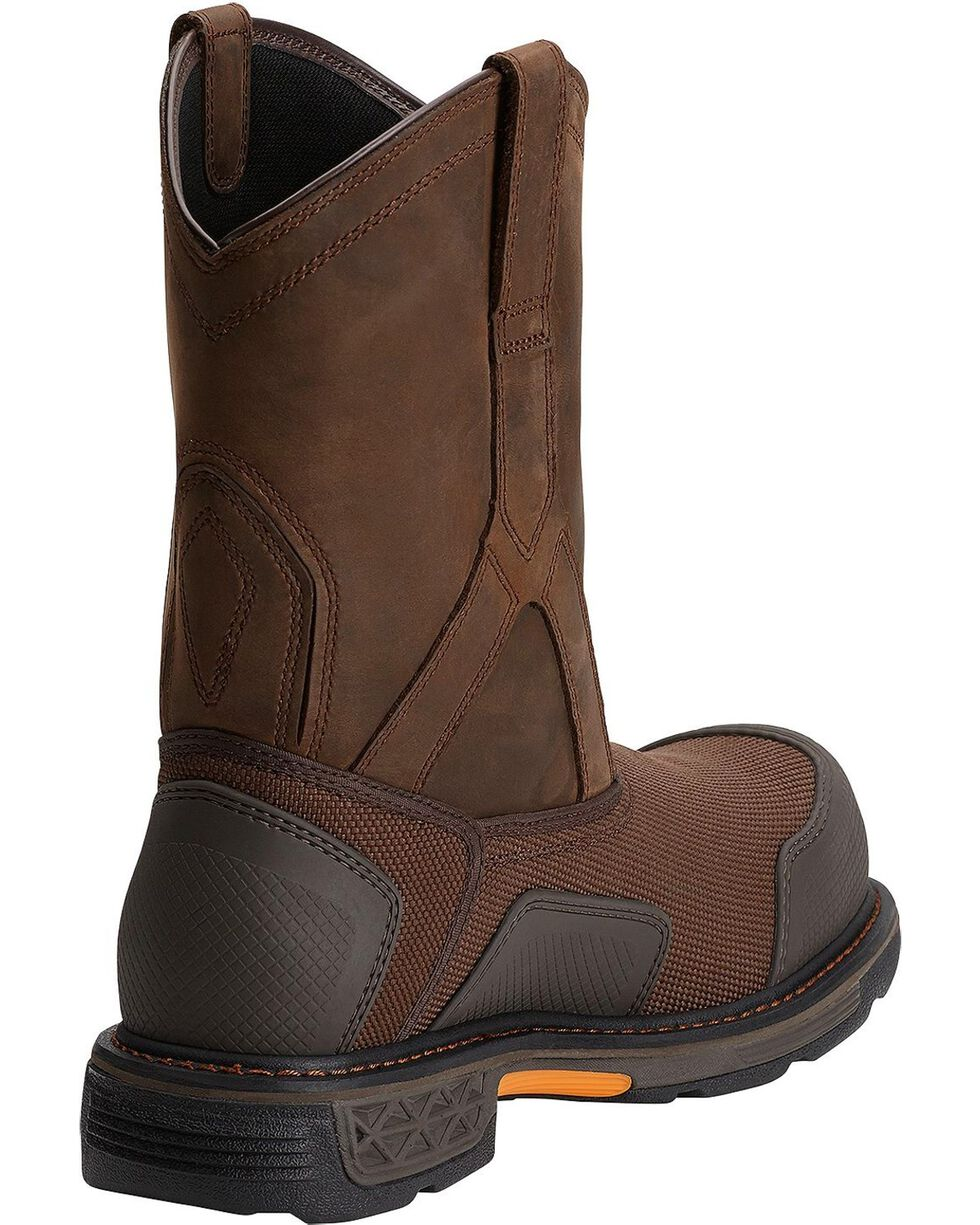 Ariat Overdrive XTR H20 Pull-On Work Boots - Composite Toe, Brown, hi-res