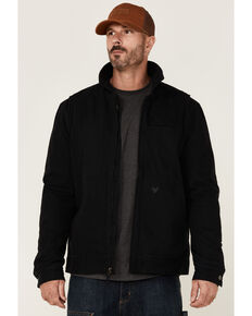 Hawx Men's Black Crawford Weathered Insulated Zip-Front Work Jacket , Black, hi-res