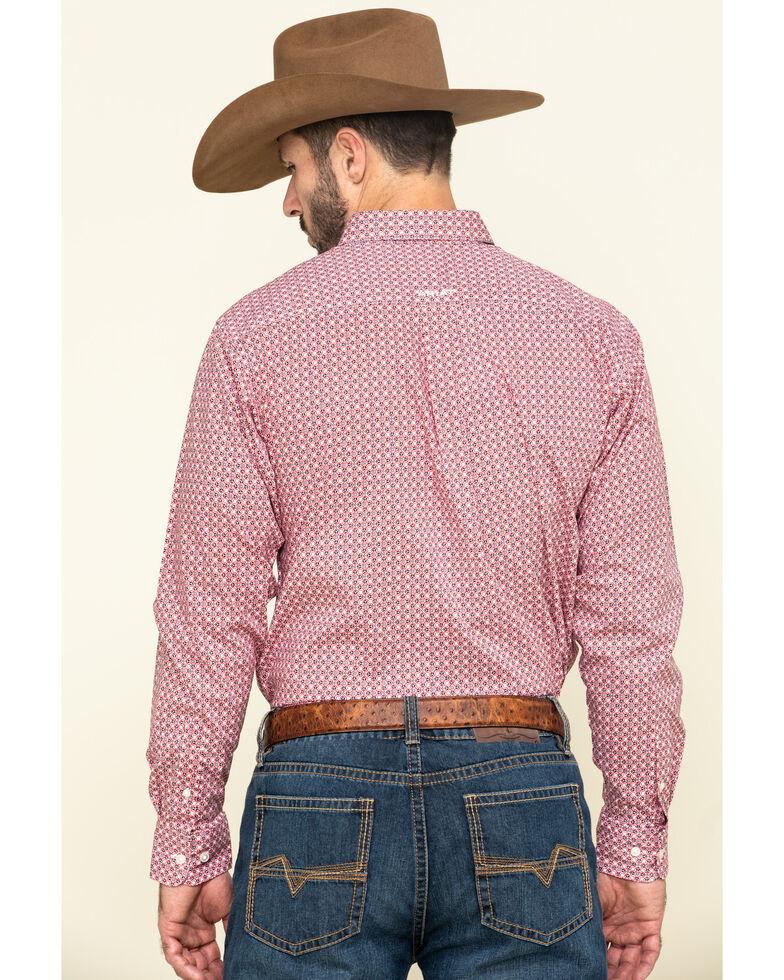 Ariat Men's Vartan Fitted Geo Print Long Sleeve Western Shirt , White, hi-res