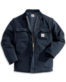 Carhartt Men's Arctic Quilt-Lined Duck Work Coat, Navy, hi-res