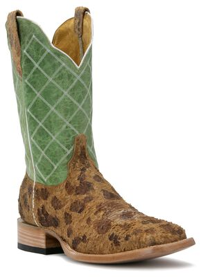 Cinch Classic Atilla Invision Cowgirl Boots - Square Toe, Tan, hi-res