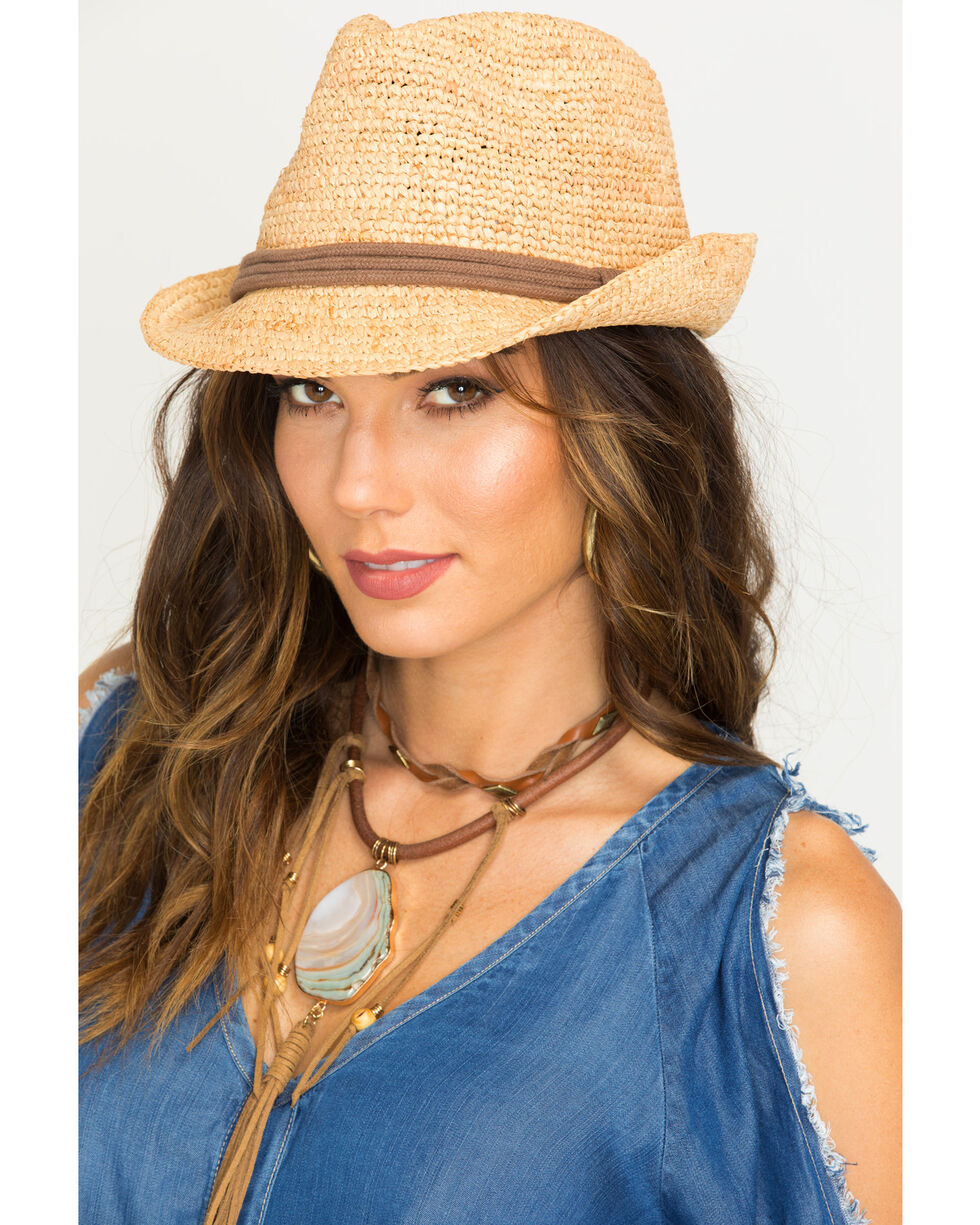 ále by Alessandra Women's Brown Marin Hat , Brown, hi-res