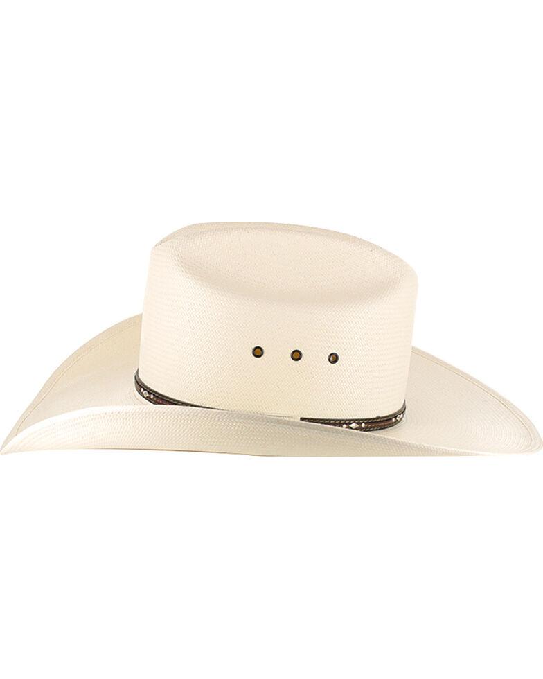 Resistol Men's George Strait Men's Kingman 10X Straw Cowboy Hat, Natural, hi-res