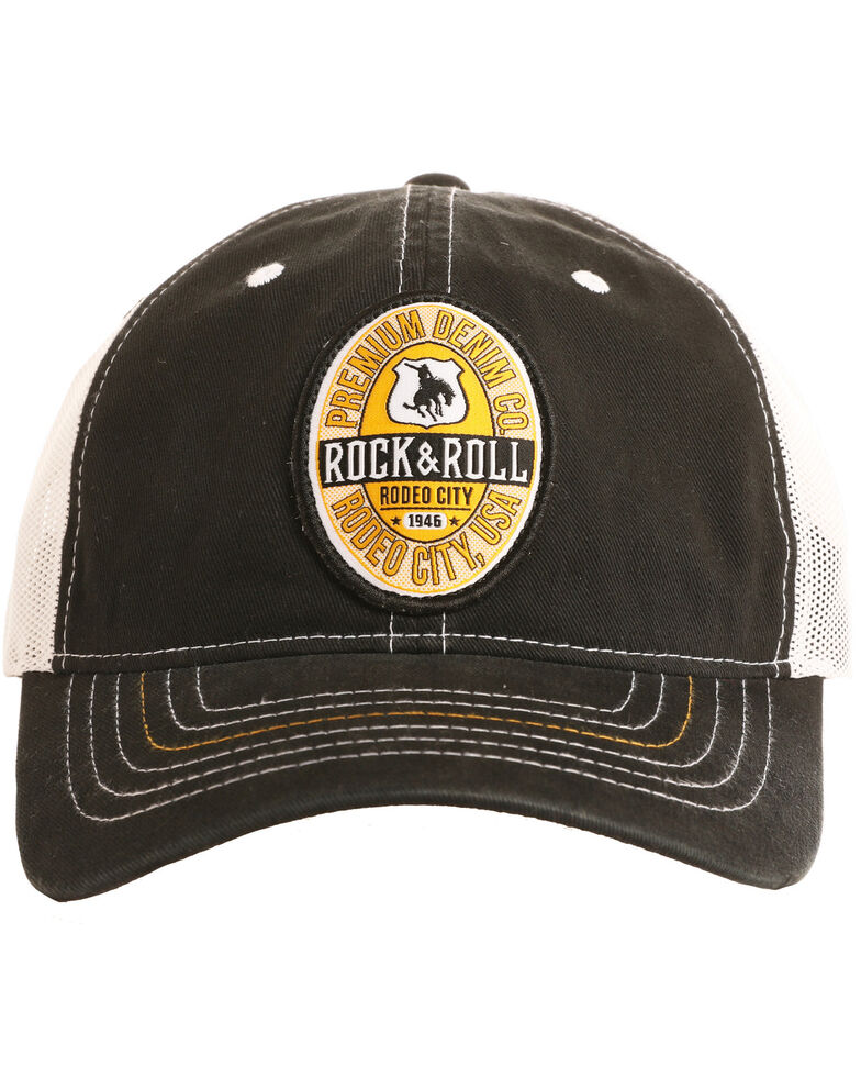 Rock & Roll Cowboy Men's Rodeo City USA Patch Cap , Black, hi-res