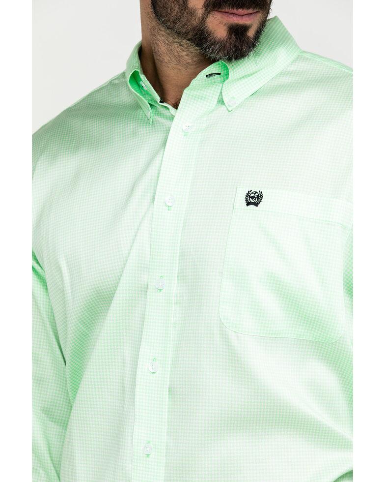 Cinch Men's Green Geo Print Plain Weave Long Sleeve Western Shirt , Green, hi-res
