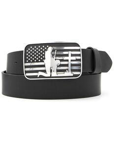 Cody James Men's Praying Cowboy American Flag Western Belt, Black, hi-res
