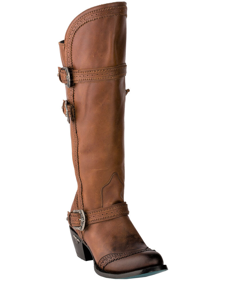 Lane Women's Sakes Alive Western Boots - Round Toe, Brown, hi-res
