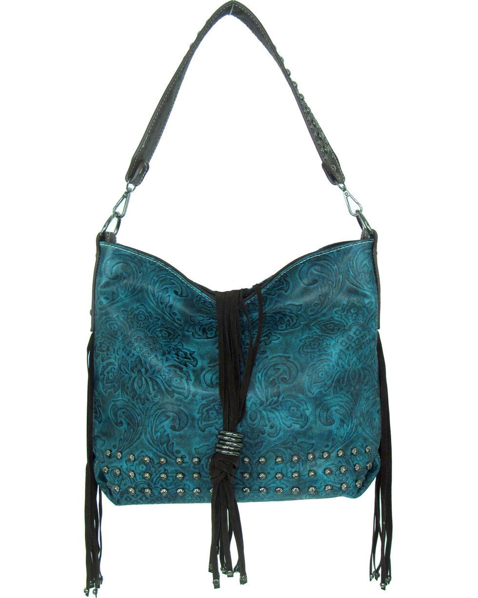 Savana Women's Tooled Concealed Carry Handbag, , hi-res