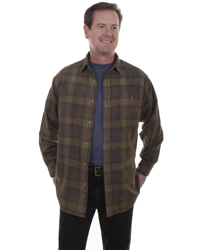Scully Men's Corduroy Navy Plaid Shirt, Navy, hi-res