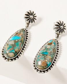 Shyanne Women's Mystic Summer Mini Concho Teardrop Earrings, Silver, hi-res