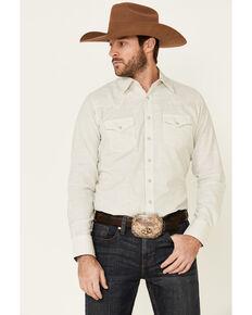 Wrangler Retro Premium Men's White Striped Long Sleeve Western Shirt , White, hi-res