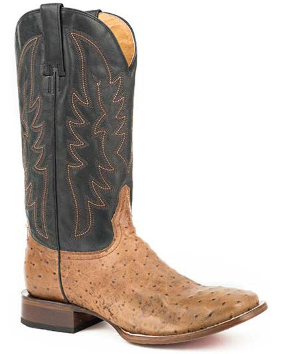 Roper Men's Logan Western Boots - Square Toe, Tan, hi-res