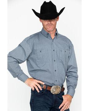 George Strait by Wrangler Men's Long Sleeve Print Shirt , Black, hi-res