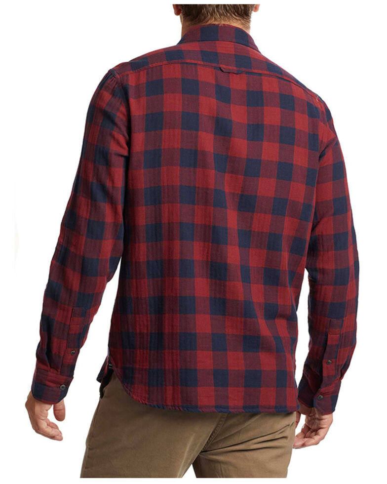 Flag & Anthem Men's Maroon Belhaven Plaid Long Sleeve Button-Down Western Shirt , Maroon, hi-res