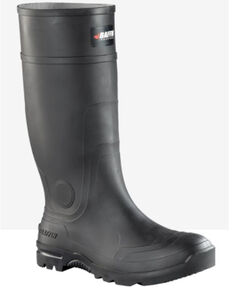 Baffin Men's Blackhawk Rubber Boots - Soft Toe, Black, hi-res