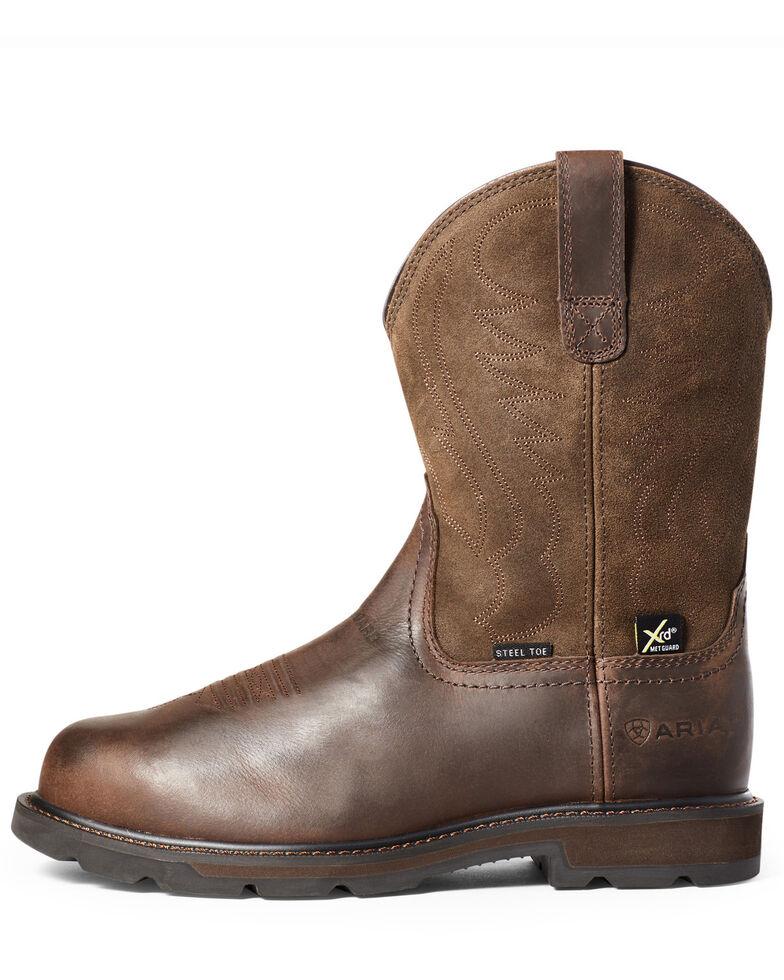 Ariat Men's Groundbreaker Metguard Western Work Boots - Steel Toe, Brown, hi-res