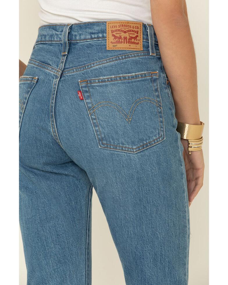 Levi's Women's 501 Original Cropped Jeans, Blue, hi-res