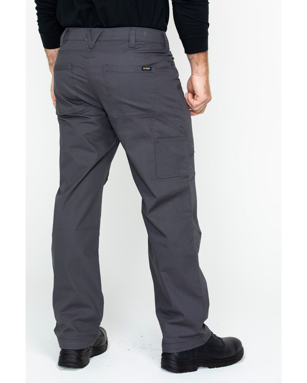 Hawx® Men's Stretch Ripstop Utility Work Pants , Charcoal, hi-res