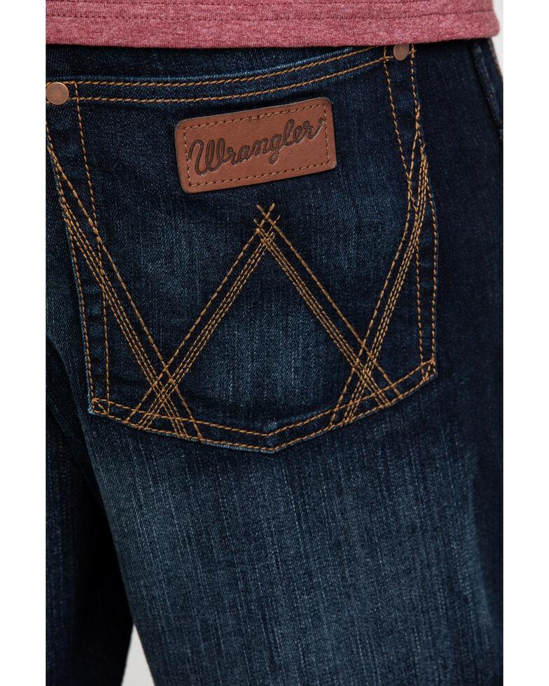 Wrangler Retro Men's Lavon Dark Stretch Relaxed Boot Jeans - Long , Indigo, hi-res