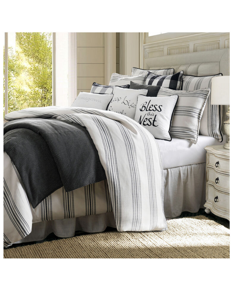HiEnd Accents Super King Blackberry 3 Piece Comforter Set, Multi, hi-res